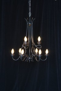 Large Black Chandelier Rental AV Connections Charleston SC