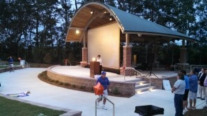 Outdoor movie projection screen rentals in charleston