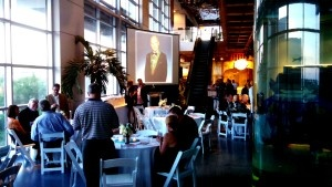 Awards banquet lighting rentals at south carolina Aquarium by AV Connections, Charleston