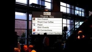 Awards banquet lighting rentals at south carolina Aquarium by AV Connections, Charleston