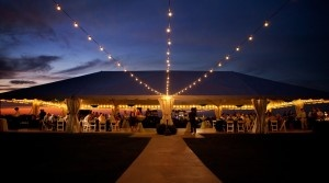 Wedding lighting for Cooper River Room