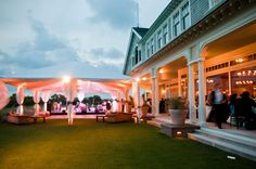 Wedding lighting for Ocean Course Kiawah