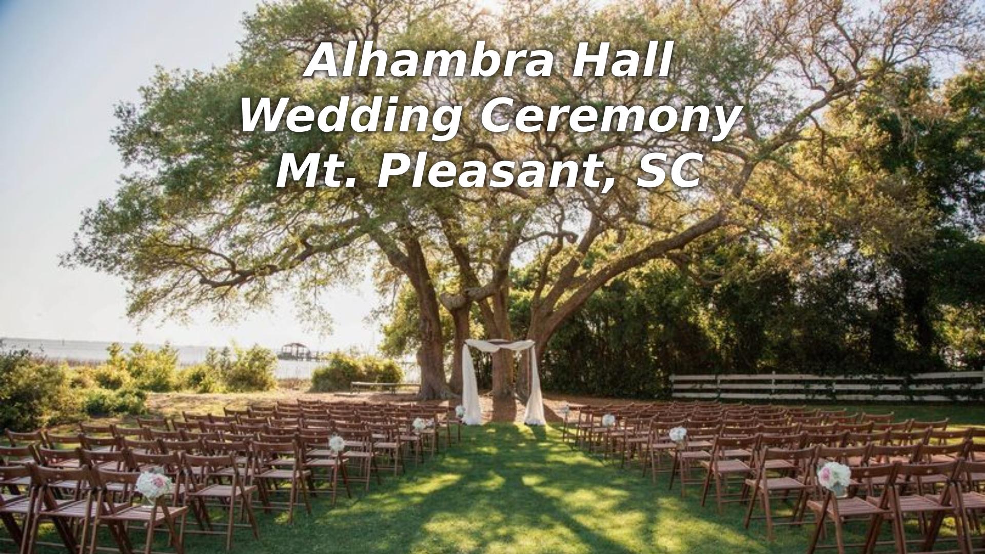 Alhambra Hall Wedding Ceremony